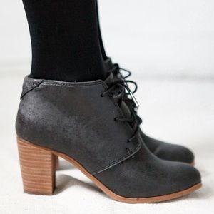 TOMS Lunata Lace-Up Women's Boots Black